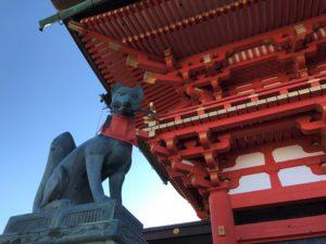 伏見稲荷大社のキツネ像