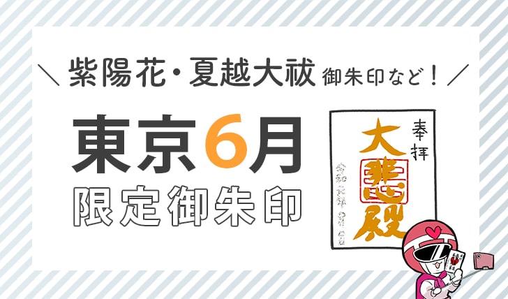 東京6月限定御朱印(紫陽花・夏越大祓御朱印など)
