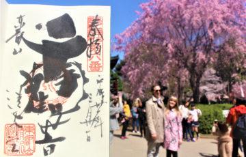 清水観音堂の御朱印(上野公園内)