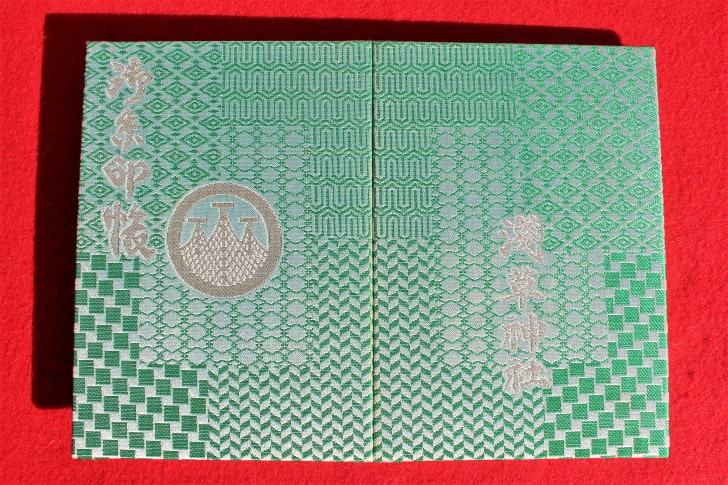 浅草神社のオリジナル御朱印帳(見開き)