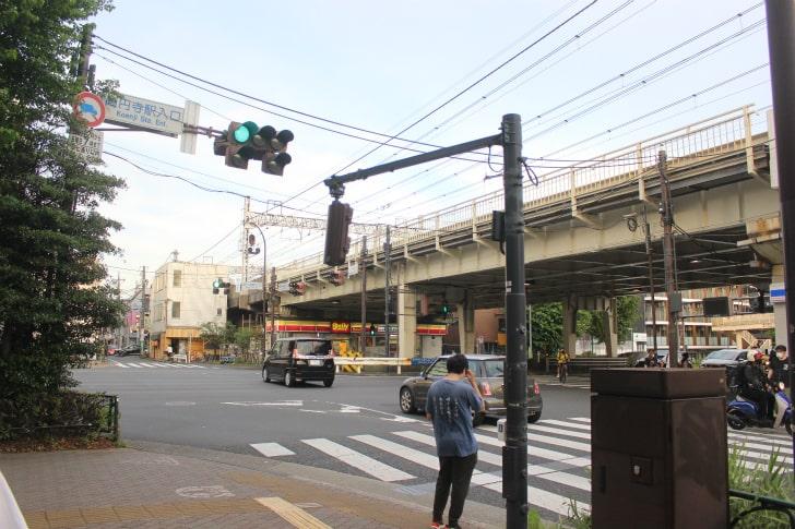 「高円寺駅入り口」交差点